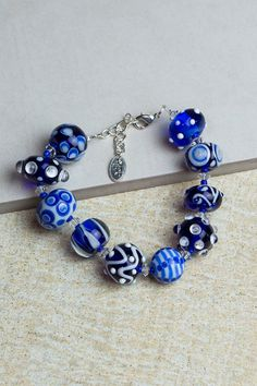 Lampwork Bracelets by ADKTahoe on Etsy