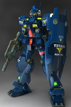 RGM-79Q GM Quel was the first mass-produced mobile suit of the Titans. It was only seen at the very end of Mobile Suit Gundam 0083: Stardust Memory and was featured in Advance of Zeta: The Flag of Titans. Front