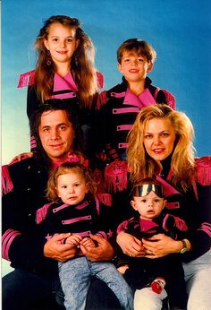 Bret Hart & his former wife Julie, along with their children