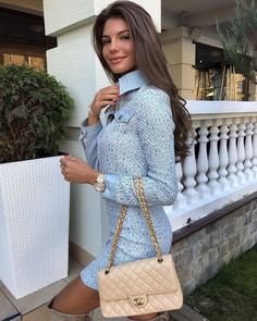 Image may contain: 1 person, standing Girly Outfits, Classy Outfits, Chic Outfits, Fashion Outfits, Sophisticated Outfits, Elegant Outfit, Sexy Classy Style, Daily Fashion, Chanel