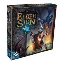 Engelstalig.  Elder Sign is een snel, coöperatief dobbelspel met bovennatuurlijke intriges van Richard Launius en Kevin Wilson (ontwerpers...