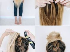 Best Totally Free School-hairstyle-tutorial-for-an-easy-upside-down-braid - Uñas Coffing Maquillaje Peinados Tutoriales de cabello Five Minute Hairstyles, Quick Hairstyles For School, Sweet Hairstyles, Cute Simple Hairstyles, Easy Hairstyles For Long Hair, Braids For Long Hair, Little Girl Hairstyles, Everyday Hairstyles, Braided Hairstyles