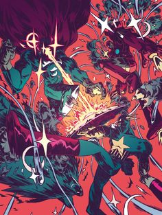 """ DC Vs Marvel "" par Guillaume Singelin"