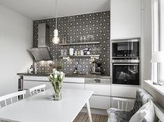скандинавская белая кухня white scandinavian kitchen