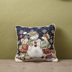 Christmas Tapestry Throw Pillow