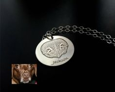 YOUR Pets Actual Dog Cat Pet Nose Print in by StampedByTheHeart