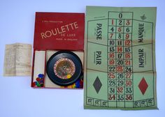 1950s Roulette De Luxe Made in England A Bell Production Vintage Games Room Vintage Casino Traditional Game by BiminiCricket on Etsy