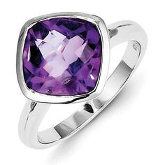 *Extra 10% off on our store plus No Shipping Charges! Period. Sterling Silver A... Check it out here! http://shirindiamond.net/products/sterling-silver-amethyst-ring-qr4463am?utm_campaign=social_autopilot&utm_source=pin&utm_medium=pin