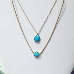 Turquoise- a spring fave!! Kendra Scott necklaces- $40 $50  #madisonsbluebrick #downtownhotsprings #kendrascott #jewelry #necklaces