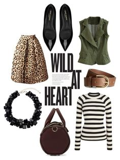 """Vests - Wild at Heart"" by ashley-lanette-hays on Polyvore featuring H&M, Yves Saint Laurent and Alexander Wang"