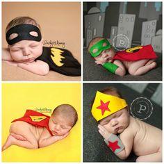 ON SALE Newborn Superhero Boy and Girl Batman by pitterpatcrochet