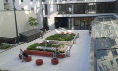 inner courtyard. informatics faculty. Vienna.