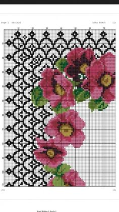 from Ebba High Summer 2015 Cupcake Cross Stitch, Cross Stitch Pillow, Cross Stitch Borders, Cross Stitch Rose, Modern Cross Stitch Patterns, Cross Stitch Flowers, Cross Stitch Designs, Cross Stitch Embroidery, Embroidery Patterns