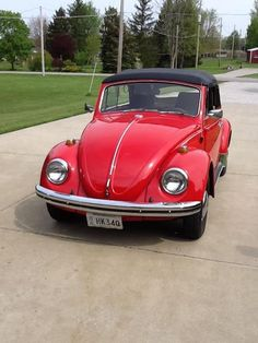 """thanks to """"Growing Pains,"""" this has been my dream car as long as I can remember. Red, 1969, VW convertible."""