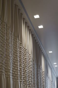 Creation Baumann panels on recessed cubicle track