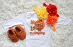 3 Piece Thanksgiving Outfit Set-Thanksgiving by MMFDiamondBaby