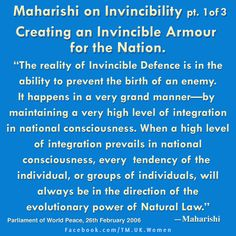We can create in Invincible National Defence collectively. Check out how here: http://globalmotherdivine.org/world_peace/overview.html How much do we want Invincibility inside & out? What do you think?