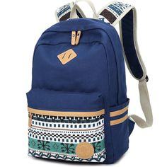 Ethnic Women Backpack for School Teenagers Girls Vintage Stylish School Bag Ladies Canvas Backpack Female Back Pack High Quality -- Details on product can be viewed by clicking the image