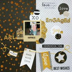 A Touch Of Gold Layouts - Artfull Crafts - Melissa Vining Smash Book Pages, Scrapbook Journal, Touch Of Gold, Joy, Scrapbooking, Happy, How To Make, Crafts, Layouts