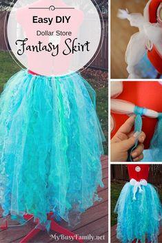 DIY: Easy Dollar Store Fantasy Skirt