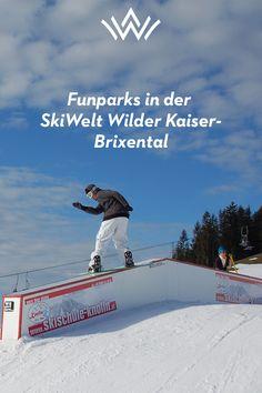 Snowboard in den Alpen und den Funparks von Tirol Parks, Wilder Kaiser, Snowboards, Baseball Cards, Best Ski Resorts, Snowboarding Holidays, Ski, Family Vacations, Snowboarding