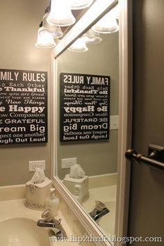 Bathroom Mirrors Under $50 bathroom makeover | bathroom and bathroom makeovers