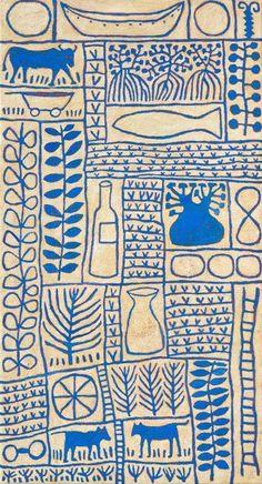 Blue Boab Acrylic on linen. by Marina Strocchi. Pattern Art, Print Patterns, Arte Popular, Aboriginal Art, Grafik Design, Illustrations And Posters, Mail Art, Textile Art, Art Inspo