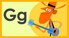 """The Letter G Song"" exemplifies the style of western music, a type of American folk and country music. Preschool Songs, Preschool Letters, Preschool Curriculum, Preschool Learning, Early Learning, Teaching, Toddler Preschool, Kindergarten, Alphabet Video"