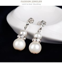 Simple alloy plating Necklace set (CA244-A)NHDR1460 Necklace Set, Plating, Pearl Earrings, Pearls, Simple, Jewelry, Jewerly, Pearl Studs, Jewlery