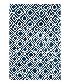 Also for bedroom with hardwood floors. This color blue for accent wall behind headboard.    Take a look at this Navy Charlotte Rug by Loloi Rugs on #zulily today!