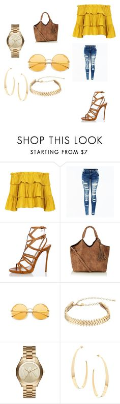 """""""Yellow Mellow"""" by dreimy ❤ liked on Polyvore featuring Sans Souci, Dsquared2, Rebecca Minkoff, Michael Kors and Lana"""