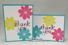 Petal Potpourri and Watercolor Thank You - Barbstamps!! Barb Mullikin Stampin' Up! Demonstrator