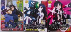 DVD ANIME ACCEL WORLD Vol.1-24End + ACCEL WORLD REVERBERATION + VACATION + 8 OVA Region All Free Shipping