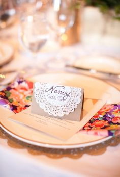 doily place cards
