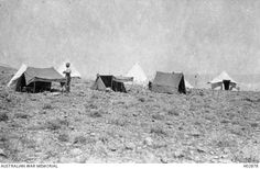 Talaat ed Dumm, Palestine. Bivouacs of officers of Headquarters Anzac Mounted Division. This area was between Jerusalem and Jericho. (Donor Colonel D. Photographs, Photos, Palestine, Jerusalem, First World, Division, World War, Egypt, Australia