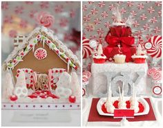 {Easy Entertaining} Red and White Holiday Table | High/Low Food/Drink