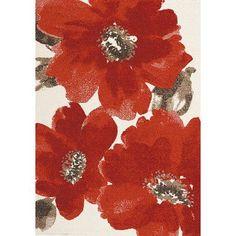 Kalora Camino Red/Ivory Area Rug Rug Size: