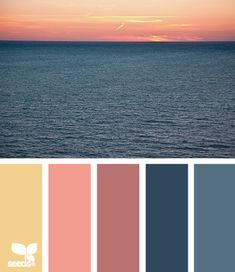 sunset color palette....LOVE