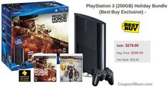$20 Off PlayStation 3 250GB Holiday Bundle | Online Shopping Blog ✿  ✿  ✿