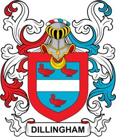 Dillingham Family Crest and Coat of Arms