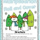 Multiplication Roll and Cover Freebie! Four game boards of winter fun from Fourth and Ten!