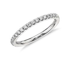 Pavé Diamond Ring in 14k White Gold | #Wedding #Ring #Jewelry