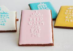 Keep Calm Cookies