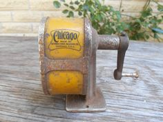 vintage Chicago pencil sharpener 1900-1921 by forgrvtx on Etsy