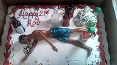 Nephew's cake I made for him for his 21st birthday. Everyone loved it.