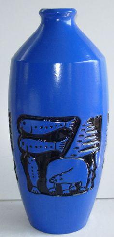 Beauceware #C-114-B Skimo Vase - Jean Cartier, Céramique de Beauce (1972) Cartier, Vase, Pottery Art, Clay, China, Vintage, Design, Top, Ceramics