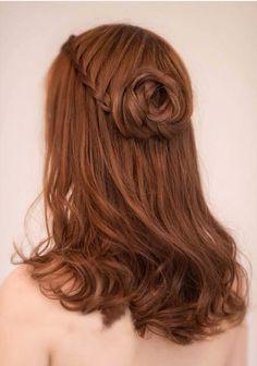 Heart braided bun
