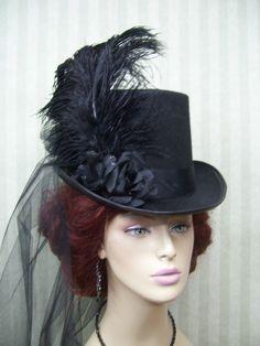 Mini Top Hats | Kentucky Derby Hats | Victorian Hat