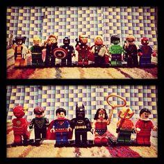 """House of heroes #flash #greenlantern #superman #batman #wonderwoman #aquaman #shazam #wolverine #ironfist #blackwidow #captainamerica #ironman #thor #hulk #hawkeye #spiderman #marvel #dccomics #lego #dclego #marvellego"" Photo taken by @meddiejusuf on Instagram, pinned via the InstaPin iOS App! http://www.instapinapp.com (03/30/2014)"