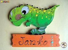 anjelicek / Menovka - dinosaurus Dinosaur Stuffed Animal, Snoopy, Toys, Handmade, Animals, Fictional Characters, Art, Activity Toys, Art Background